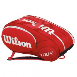 Tenisová taška Wilson mini tour 6 pk red
