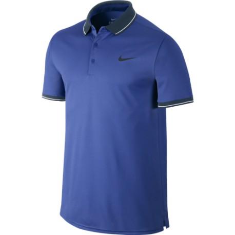 Pánské tenisové tričko Nike Court Polo blue - Tenissport Březno