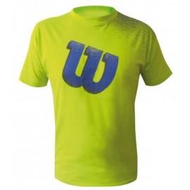 Pánské tenisové tričko Wilson Crew Fantasy yellow