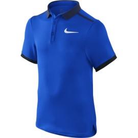 Chlapecké tenisové tričko Nike Advantage HYPER COBALT/MIDNIGHT NAVY/WHITE