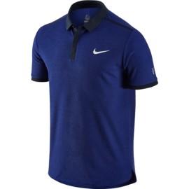 Panské tenisové tričko Nike Advantage RF DEEP ROYAL BLUE/DARK OBSIDIAN/WHITE