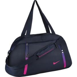 Dámská sportovní taška Nike Auralux Solid Club OBSIDIAN/OBSIDIAN/HYPER PINK