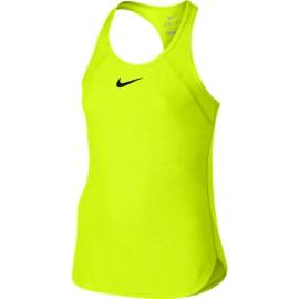 Dívčí tenisové tílko Nike Slam  VOLT/VOLT/BLACK