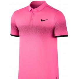 Pánské tenisové tričko Nike RF Advantage Polo HYPER PINK/WHITE/BLACK
