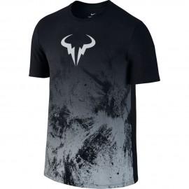 Pánské tenisové tričko Nike Rafa BLACK/WOLF GREY