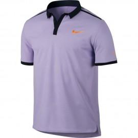 Pánské tenisové tričko Nike RF Advantage Premier Polo HYDRANGEAS/BLACK/TART