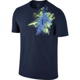 Pánské tenisové tričko Nike RF MIDNIGHT NAVY/POLAR