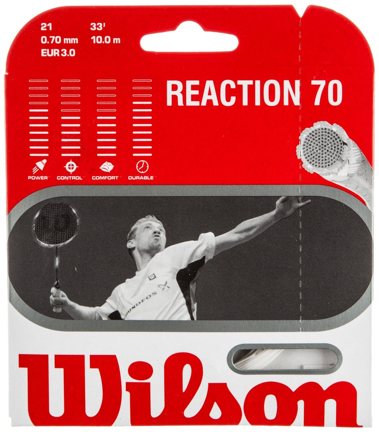 Badmintonový výplet Wilson Reaction 70 / Set 10,0m