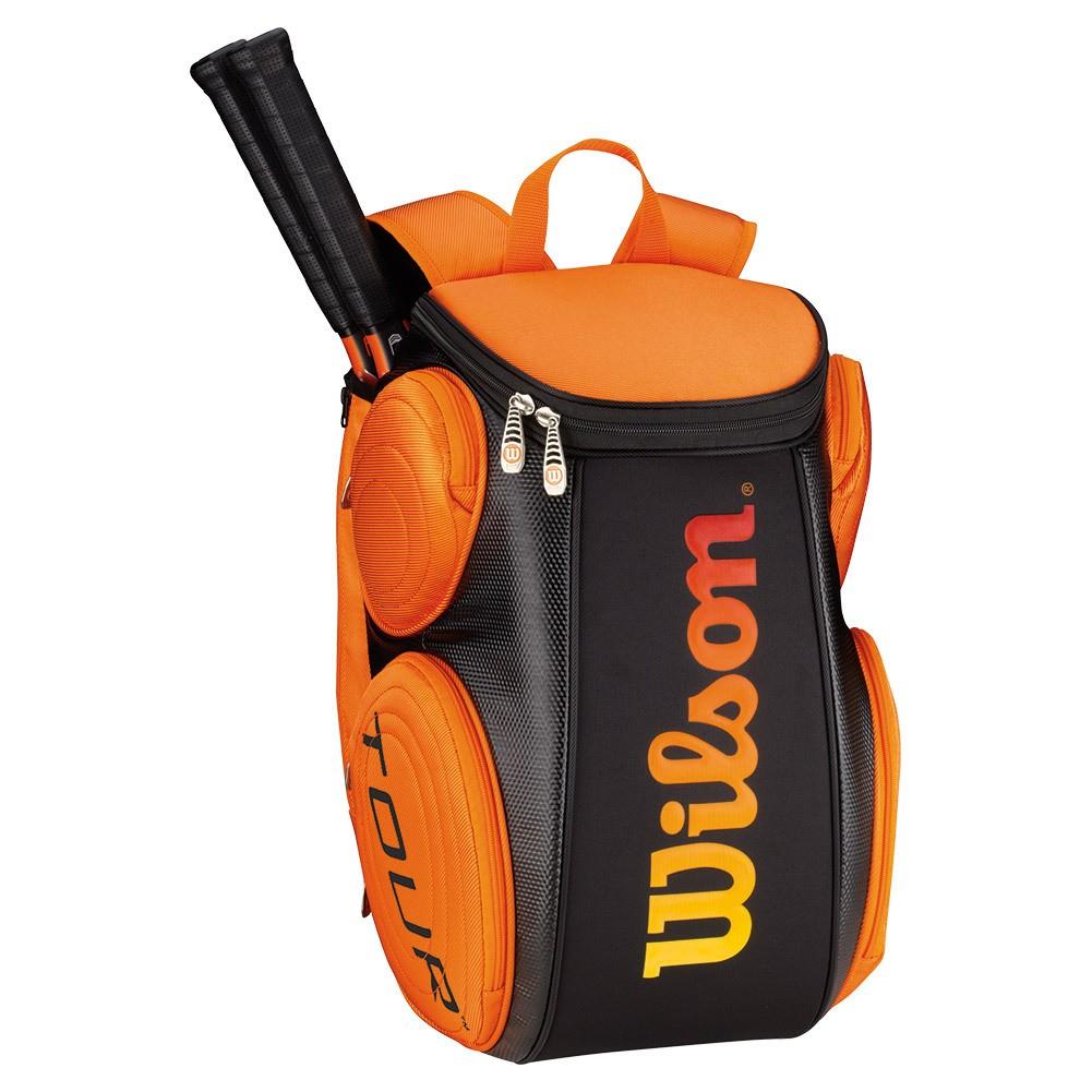 Tenisový batoh Wilson Burn Molded LG black/orange