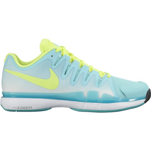 Dámská tenisová obuv Nike Zoom Vapor 9.5 Tour light aqua/voltUK 6 / EUR 40 / 25.5 cm