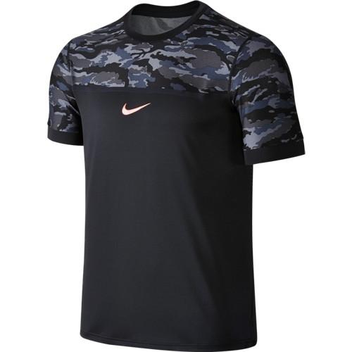 Pánské tenisové tričko Nike Challenger Premiere Rafa Crew black/hot lava2XL