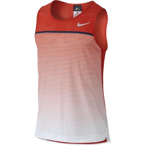 Pánské tenisové tričko Nike Challenger Premier červená/bíláM