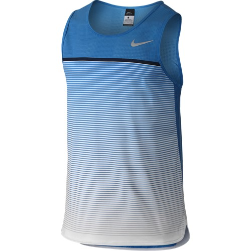Pánské tenisové tričko Nike Challenger Premier modrá/bíláS