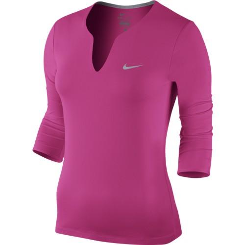 Dámské tenisové tričko Nike Pure LS pinkS