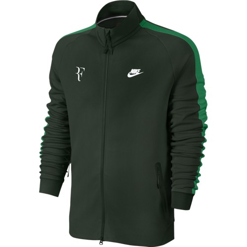 Pánská tenisová mikina Nike PREMIER RF greenL