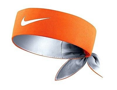 Čelenka Nike Tennis Headband VIVID ORANGE/WOLF GREY/WHITE