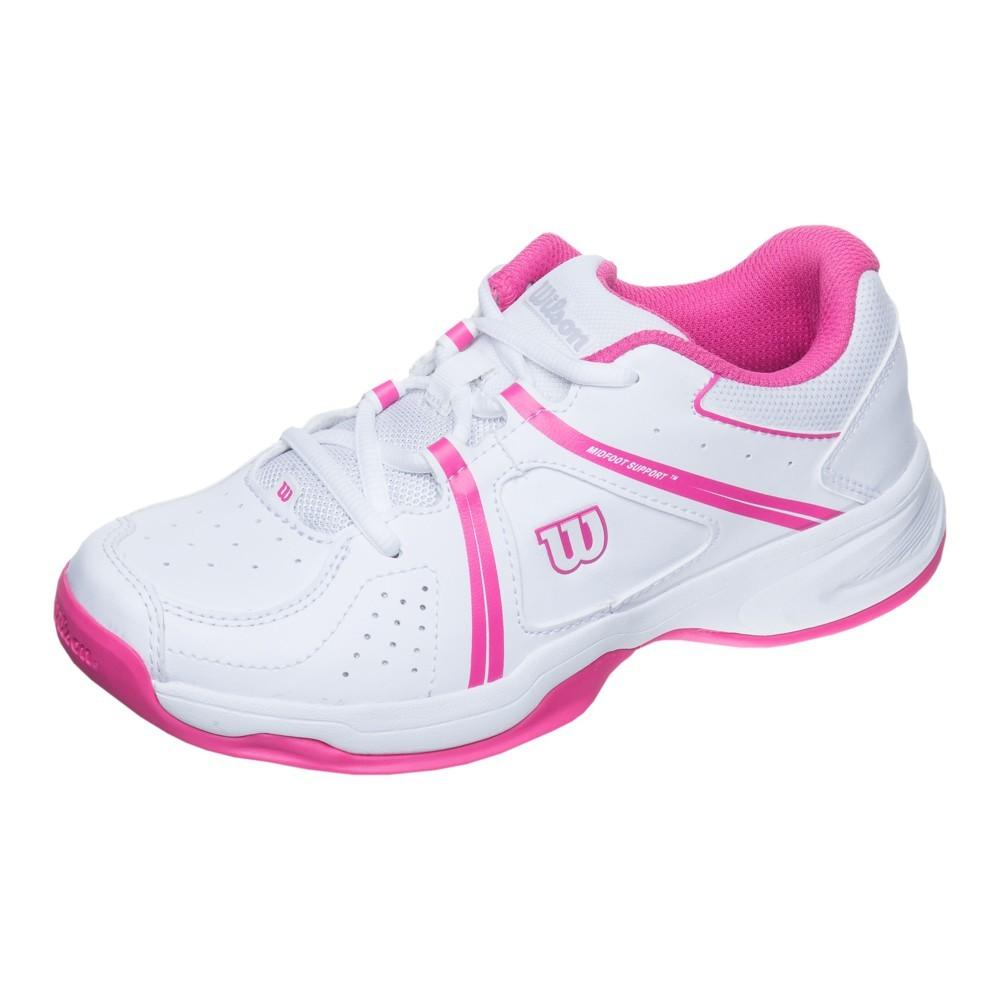 Dětská tenisová obuv Wilson Envy white/fandango pinkUK 10.5 / EUR 28 2/3, / 18 cm