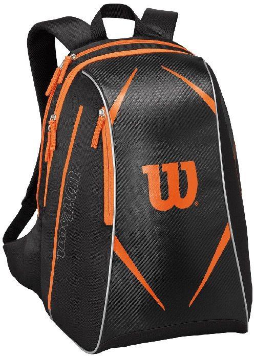 Tenisový batoh Wilson Burn Topspin black/orange