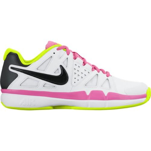 Dámská tenisová obuv Nike Air Vapor Advantage Clay WHITE/BLACK-VOLT-PINK BLAST UK 6 / EUR 40 / 25.5 cm