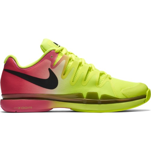 Pánská tenisová obuv Nike Zoom Vapor 9.5 Tour VOLT/BLACK-HYPER PINK UK 9 / EUR 44 / 28 cm