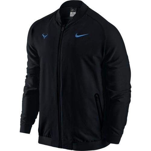 Pánská tenisová bunda Nike Rafa BLACK/BLACK/LT PHOTO BLUE M