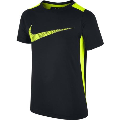 Chlapecké tričko Nike Dry SS Legacy GFX BLACK/VOLT XS