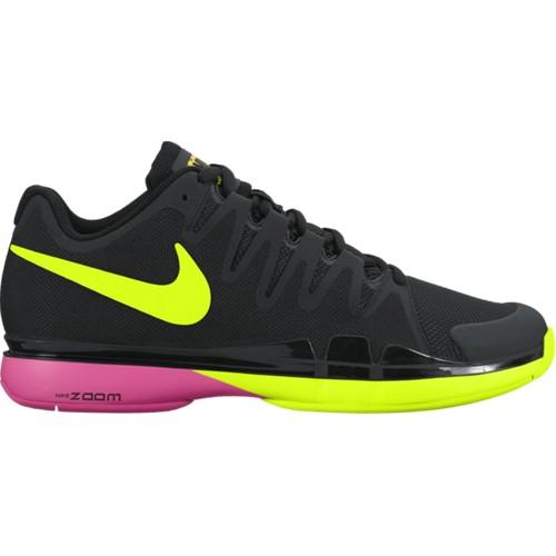 Pánská tenisová obuv Nike Zoom Vapor 9.5 Tour BLACK/VOLT-PINK BLAST UK 9 / EUR 44 / 28 cm