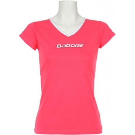 Dámské tenisové tričko Babolat Training Pink