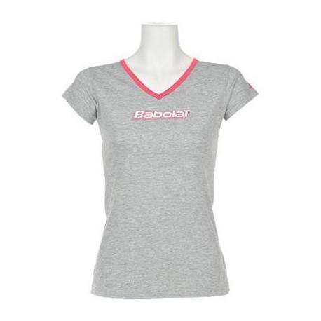 Dámské tenisové tričko Babolat Training grey