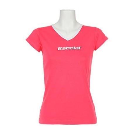 Dívčí tenisové tričko Babolat Training Pink