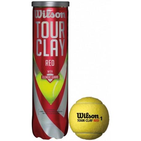 Tenisové míče Wilson Tour Clay Red / 4 ks