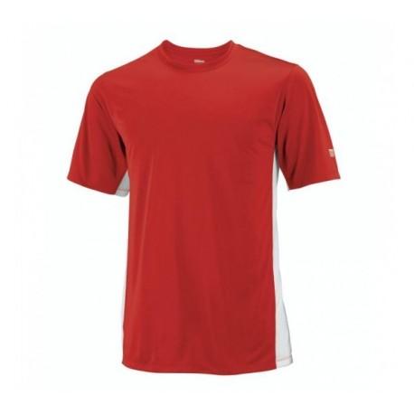 Pánské tenisové tričko Wilson On Court Crew red