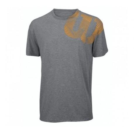 Pánské tenisové tričko Wilson W Geo grey