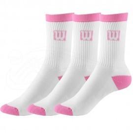 Dívčí tenisové ponožky Wilson Crew  3 páry