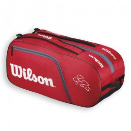 Tenisová taška Wilson Federer Team 12 bag red new