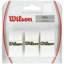 Omotávka Wilson Pro Perforated Overgrip white 3 kusy