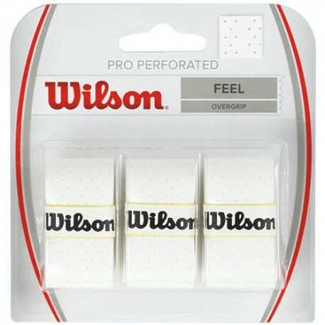 Omotávka Wilson Pro Overgrip Perforated white / 3 kusy