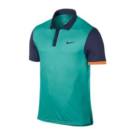 Pánské tenisové  triko Nike Advantage Polo zelené