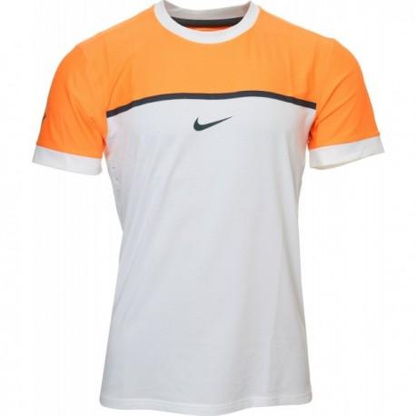 Pánské tenisové tričko Nike Premier Rafa Crew white orange