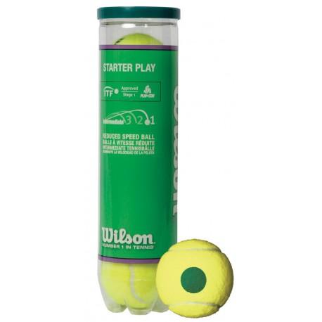 Tenisové míčky Wilson Starter Play Green / 4 kusy