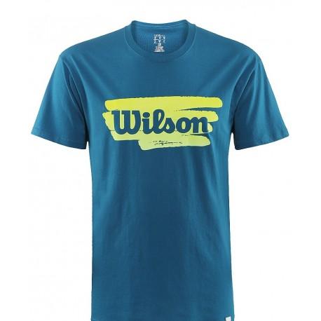 Pánské tenisové tričko Wilson Play Tennis Cotton new ultramarine