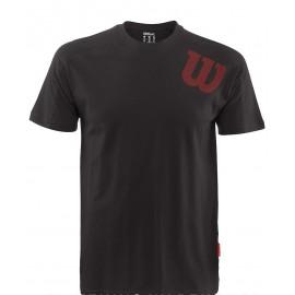 Pánské tenisové tričko Wilson Angled Crew black