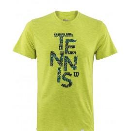 Pánské tenisové tričko Wilson Spring Tennis Tech Lime