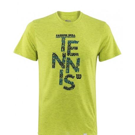 Pánské tričko Wilson Spring Tennis Tech Lime new