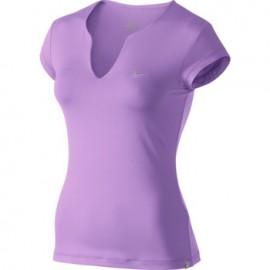 Dámské tenisové tričko Nike Pure SS Top fialková