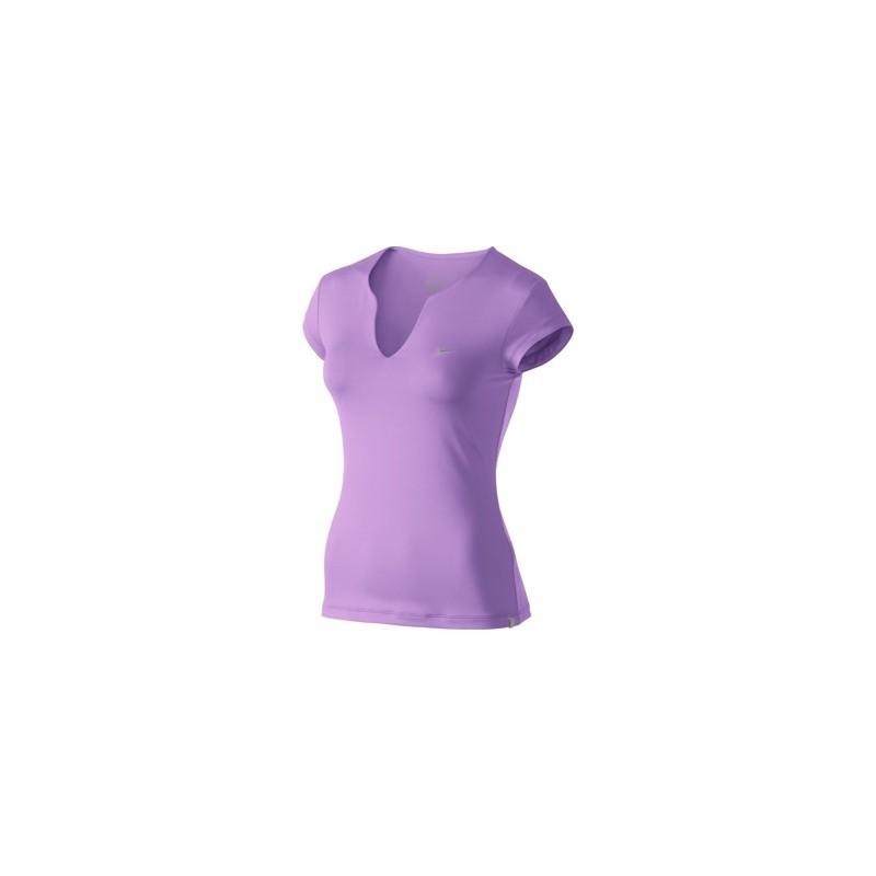 7d7045239e5a Dámské tenisové tričko Nike Pure SS Top fialková - Tenissport Březno