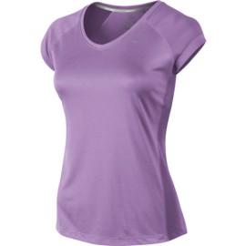 Dámské tenisové tričko Nike Miler SS V-Neck violet shock