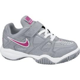 Dětská tenisová obuv Nike City Court VII grey /pink