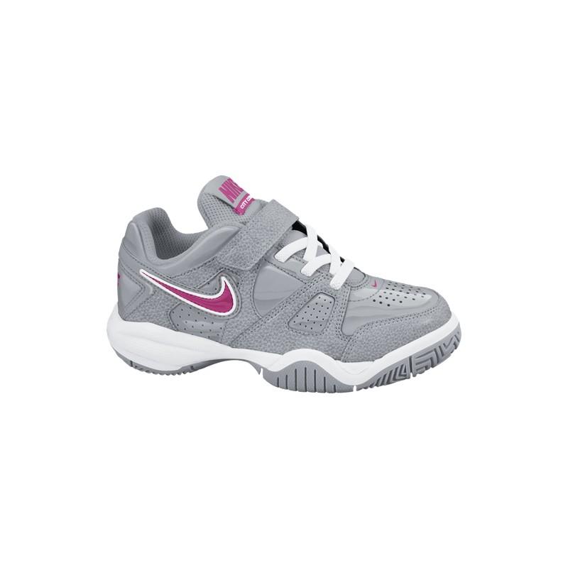Dětská tenisová obuv Nike City Court VII grey  pink - Tenissport Březno 7e12fb78eee