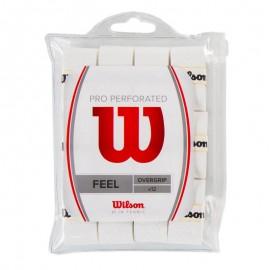 Tenisová omotávka Wilson Pro Perforated white 12 ks